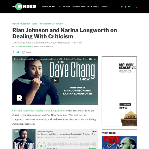 Dave Chang and Co. discuss innovation, criticism, and 'Star Wars'
