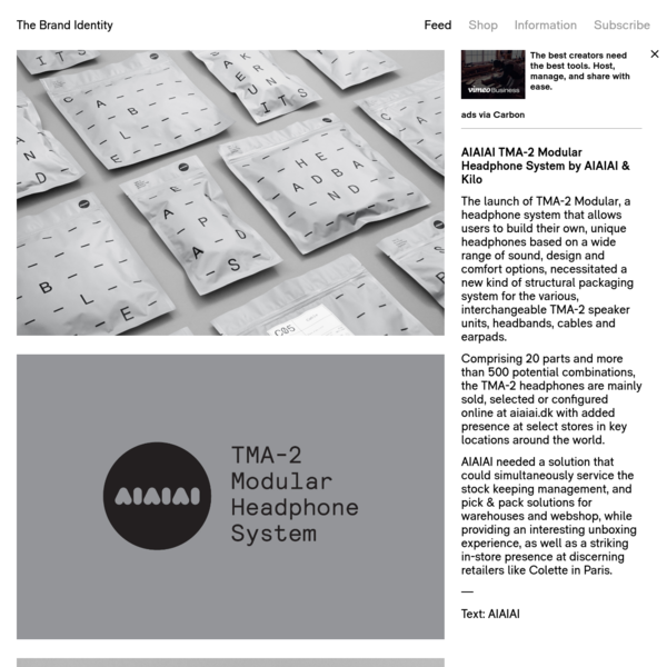 The launch of TMA-2 Modular, a headphone system that allows users to build their own, unique headphones based on a wide range of sound, design and comfort options, necessitated a new kind of structural packaging system for the various, interchangeable TMA-2 speaker units, headbands, cables and earpads.