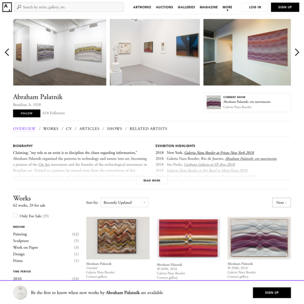 Abraham Palatnik - 62 Artworks, Bio & Shows on Artsy