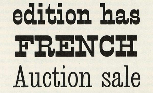 Miller & Richards wood type specimen from 1865