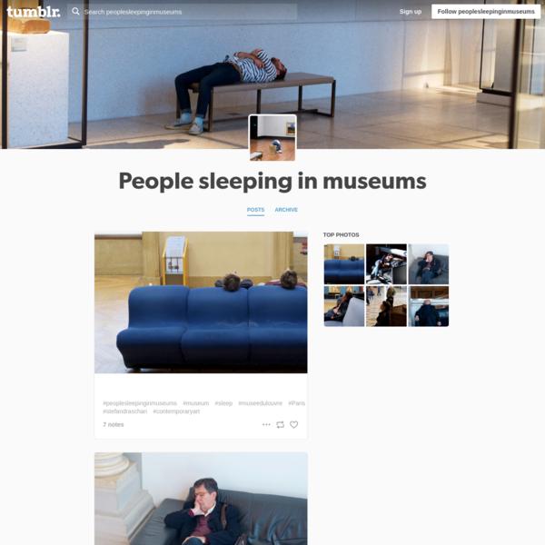 People sleeping in museums
