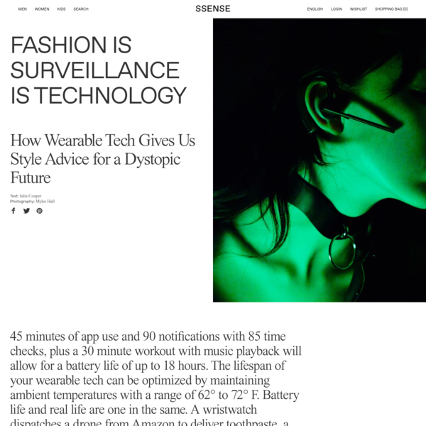 Fashion Is Surveillance Is Technology