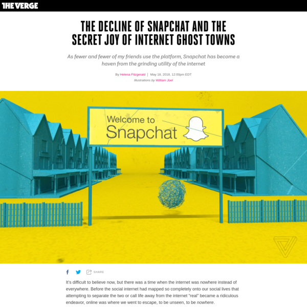 The decline of Snapchat and the secret joy of internet ghost towns