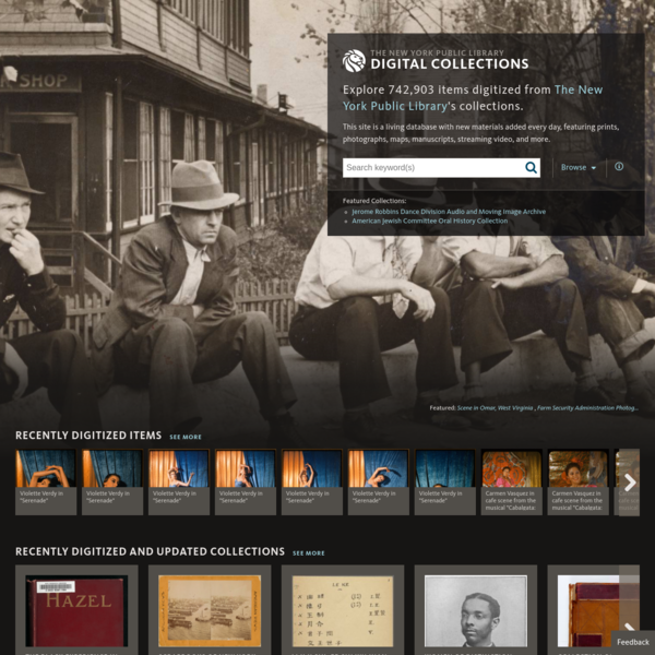 Explore hundreds of thousands of digital items from The New York Public Library.