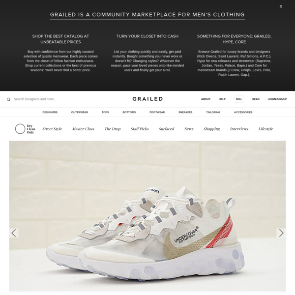 Fans of Undercover, Gyakusou and all things Jun Takahashi rejoice: The new Undercover x Nike collab is almost here. Originally debuting at Undercover's Paris Fashion Week show, the Undercover x Nike React Element 87 is set to release in five colorways.