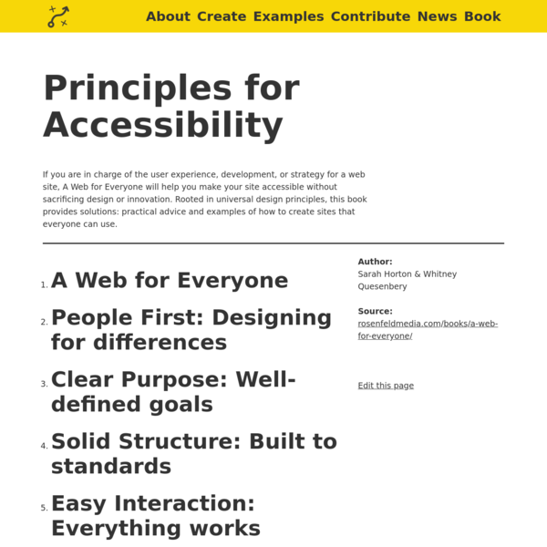 Principles for Accessibility