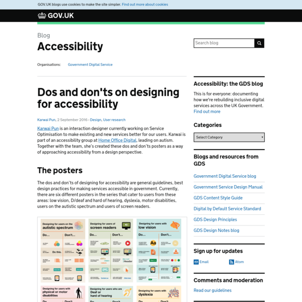 Dos and don'ts on designing for accessibility