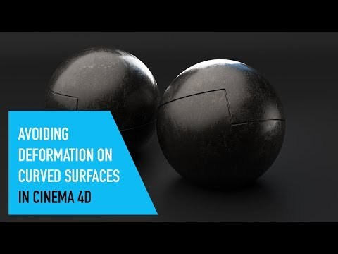 Avoiding Deformation On Curved Surfaces in Cinema4D