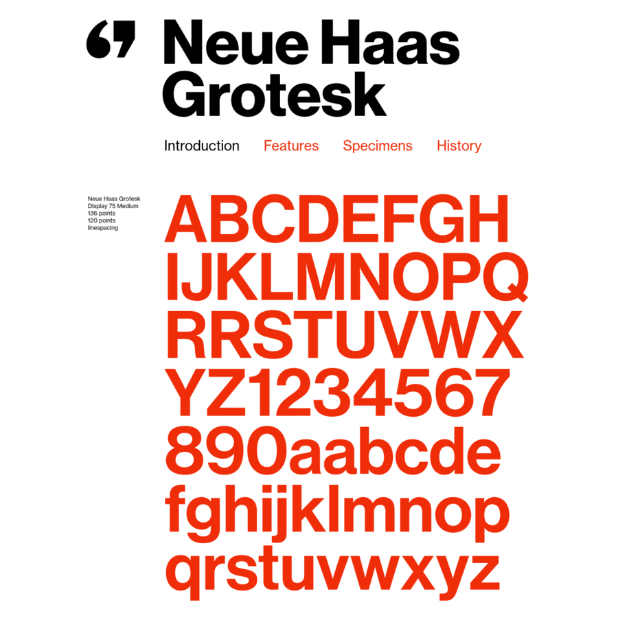 The digital version of Helvetica that everyone knows and uses today is quite different from the typeface's pre-digital design from 1957. Originally released as Neue Haas Grotesk, many of the features that made it a Modernist favorite have been lost in translation over the years from one typesetting technology to the next.