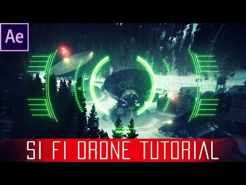 After Effects Sci fi Drone Lens Tutorial - Free HUD Overlay