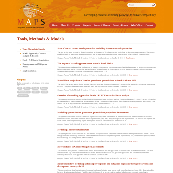 Tools, Methods & Models Archives - MAPS