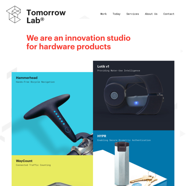 Tomorrow Lab is an Innovation Studio for Hardware Products