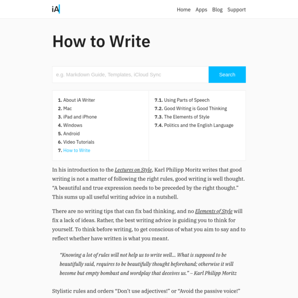 How to write: An Index of Ways to Improve your Writing Skills