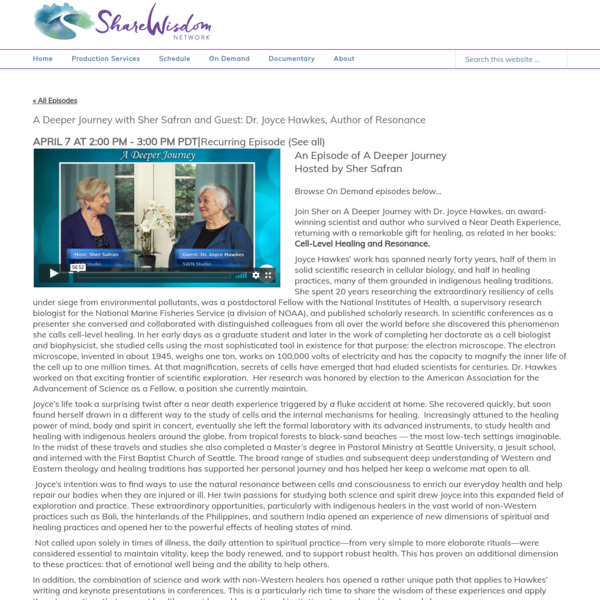 The design, function and layout of this site are an example of a client-branded channel. The episodes demonstrate the professional broadcast TV quality of our live and interactive global productions.** Share Wisdom Network offers excellence and heart in our video production and streaming solutions for individuals and companies making a difference in the world.