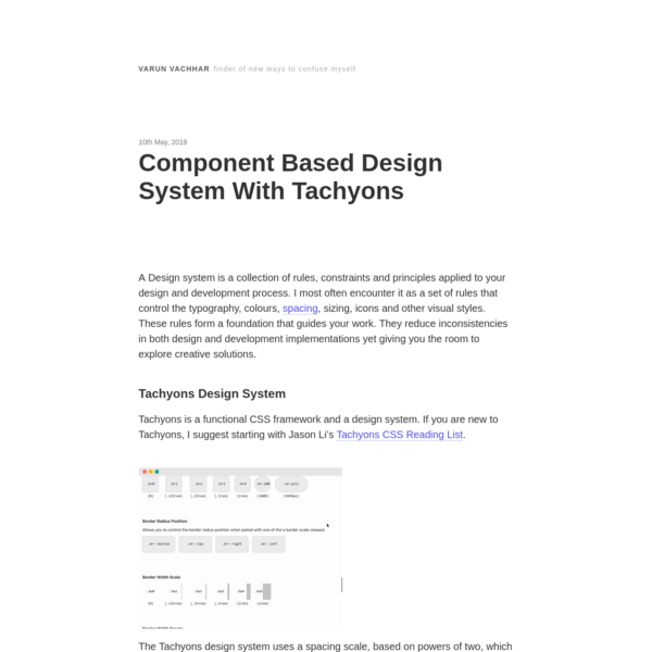Component Based Design System With Tachyons