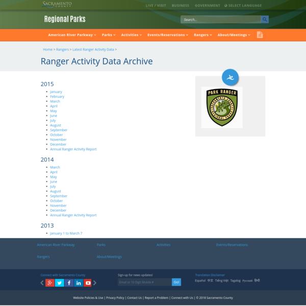 Ranger Activity Data Archive