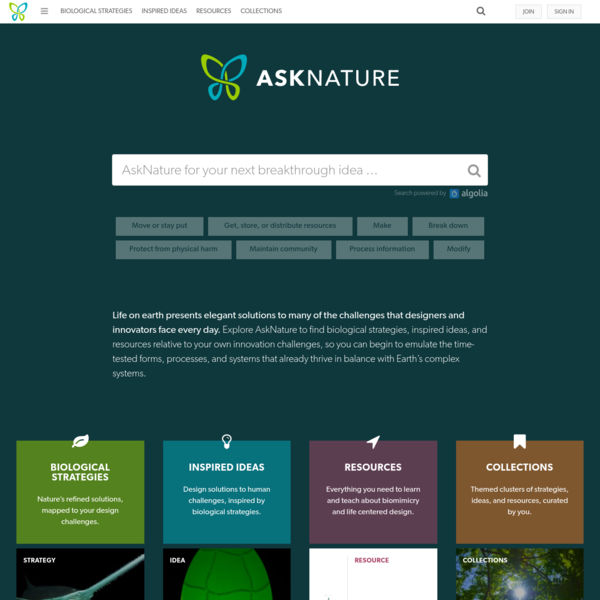 AskNature - Innovation Inspired by Nature
