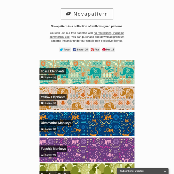 Novapattern - Curated Collection of High-Quality Patterns