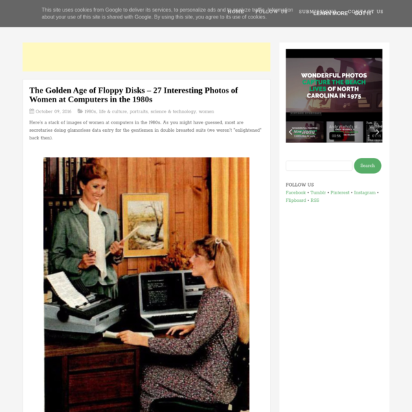 The Golden Age of Floppy Disks - 27 Interesting Photos of Women at Computers in the 1980s