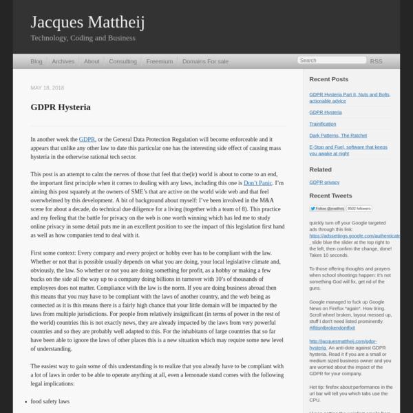Jacques Mattheij