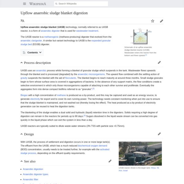 Upflow anaerobic sludge blanket digestion - Wikipedia