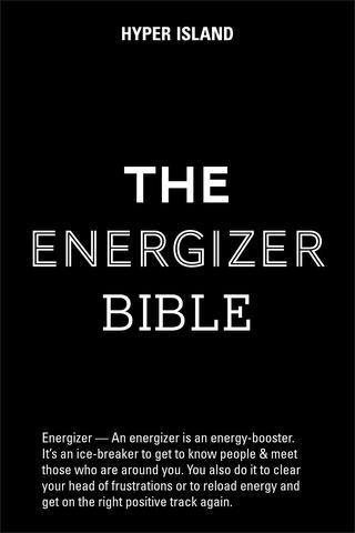 Manual on what energizers are, and how to do them.