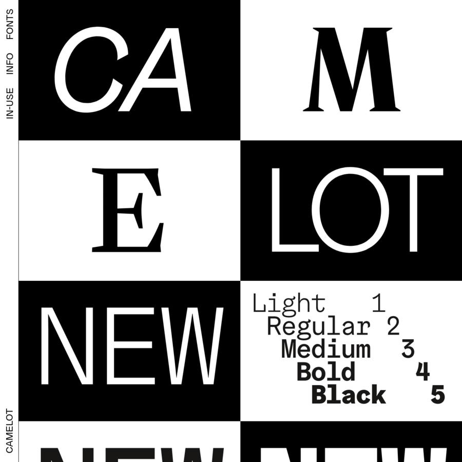 Camelot typefaces