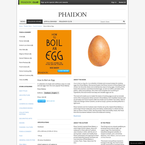 How to Boil an Egg | Food & Cookery | Phaidon Store