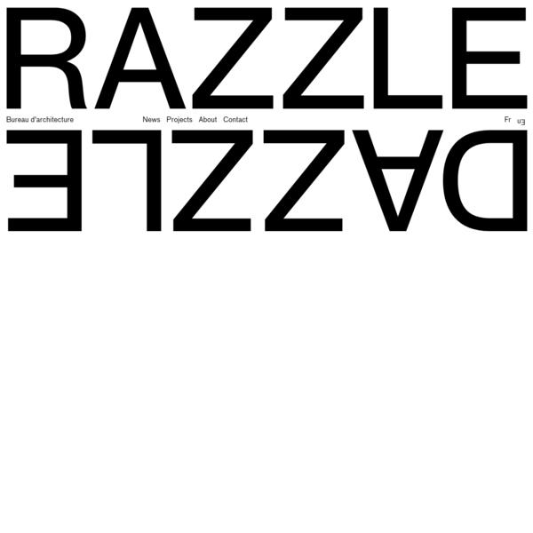 Bureau d'Architecture fondé par Amélie Busin, Architecte DESL et César Gourdon, Architecte DESA, Razzle Dazzle envisage l'Architecture comme une pratique permettant, au-delà de l'acte de construire, de questionner le réel.