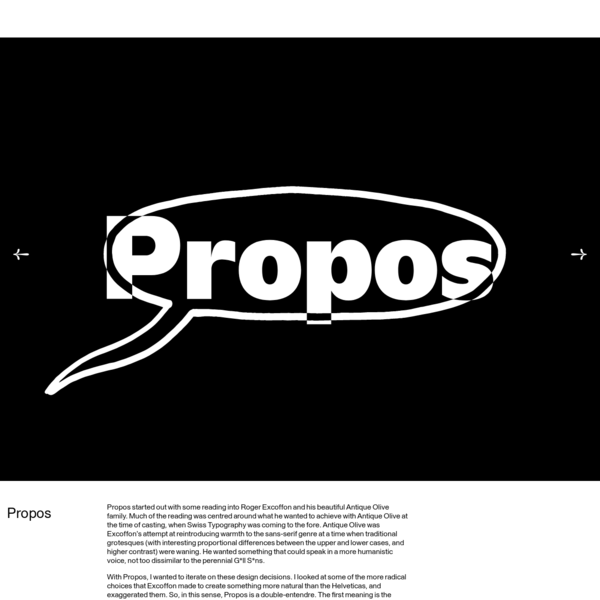 Op. Cit. ibid. is an independent type foundry based in London. It exists as an incubator and platform for typefaces designed and produced by Kia Tasbihgou.