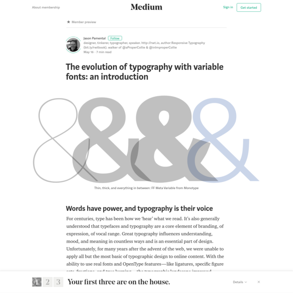 For centuries, type has been how we 'hear' what we read. It's also generally understood that typefaces and typography are a core element of branding, of expression, of vocal range. Great typography influences understanding, mood, and meaning in countless ways and is an essential part of design.