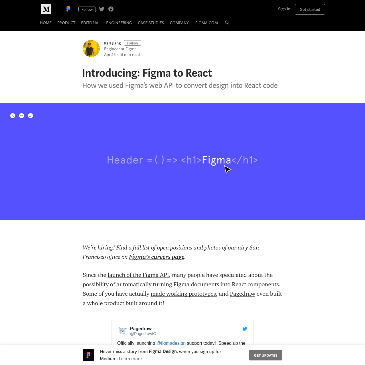 Are na / Introducing: Figma to React - Figma Design