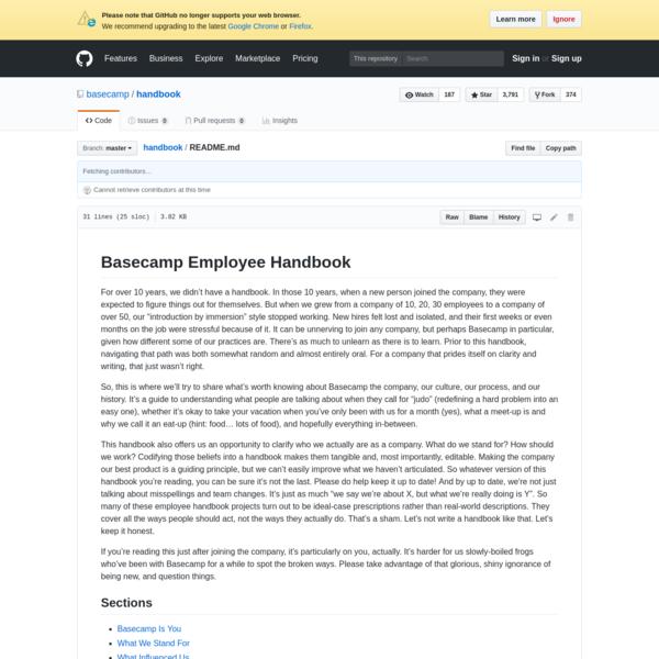 handbook - Basecamp Employee Handbook