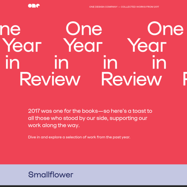 One Year in Review | One Design Company 2017 Annual Report