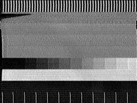 tropo reception from DDR-F1, E12 transmitter Sonneberg, with black and white testcard without circle and identification. received at 20.10.1984