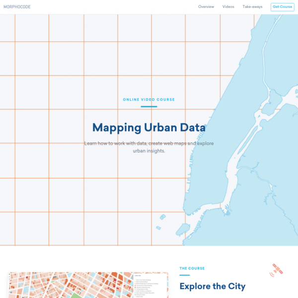 Mapping Urban Data - Online Video Course