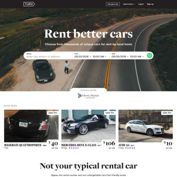 Turo - Rent unique cars or earn money renting your car.