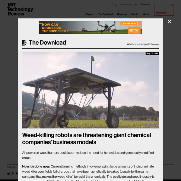 Weed-killing robots are threatening giant chemical companies' business models