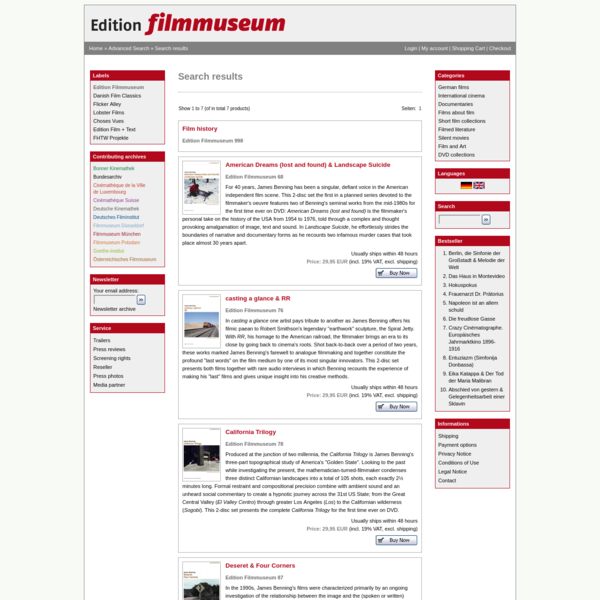 Edition Filmmuseum Shop