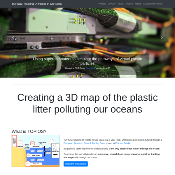 This TOPIOS project will make breakthroughs towards closing the plastic budget by creating a novel comprehensive modelling framework that tracks plastic movement through the ocean. Building on well-established previous work to follow generic water parcels through hydrodynamic ocean models, this project will modify these 'virtual' parcels to represent pieces of plastic by, for the first time, simulating fragmentation, sinking, beaching, wave-mixing and ingestion by biota.