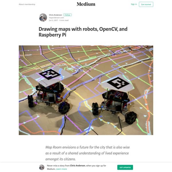 Drawing maps with robots, OpenCV, and Raspberry Pi - Chris Anderson - Medium