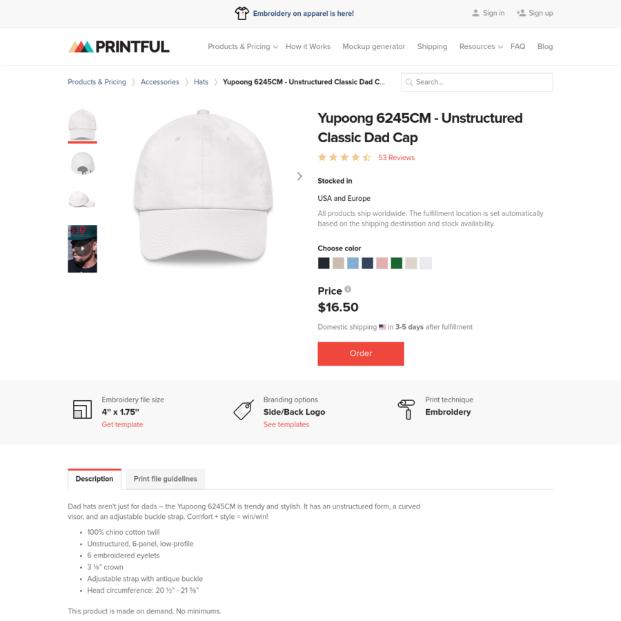 6a9bb31d14b Are.na   Yupoong 6245CM - Unstructured Classic Dad Cap - Design Your ...
