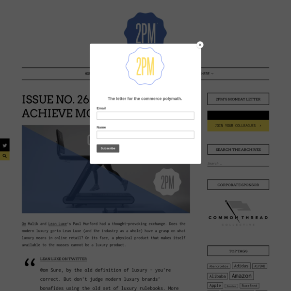 Issue No. 265: Can A DNVB Achieve Modern Luxury? – 2PM
