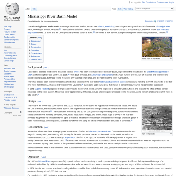 Mississippi River Basin Model - Wikipedia