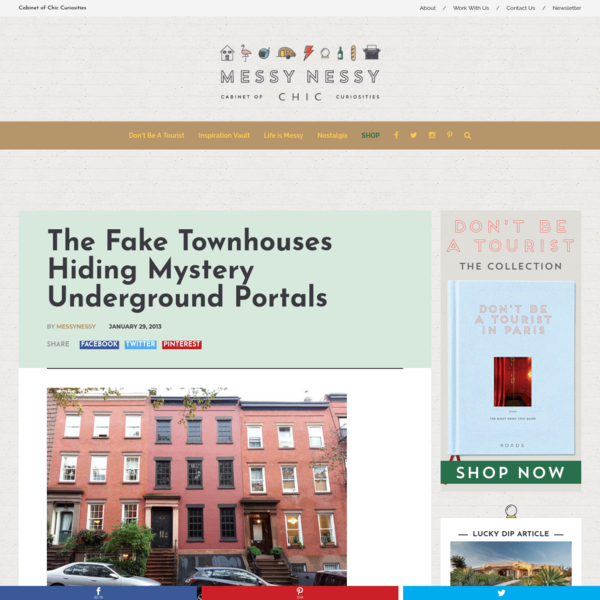 The Fake Townhouses Hiding Mystery Underground Portals