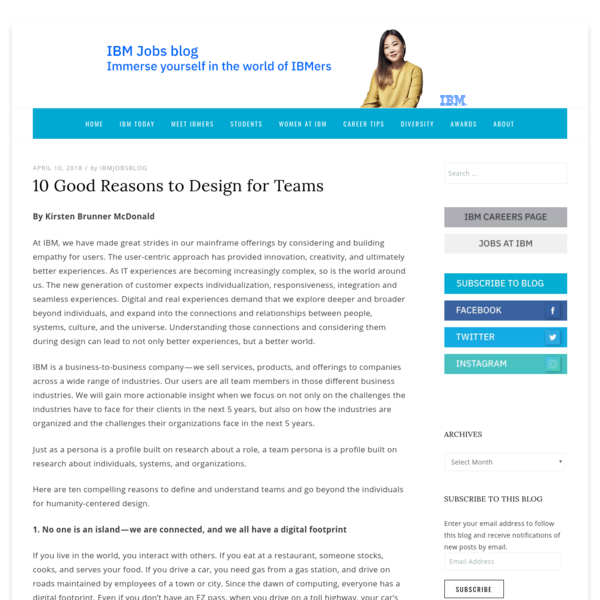 10 Good Reasons to Design for Teams