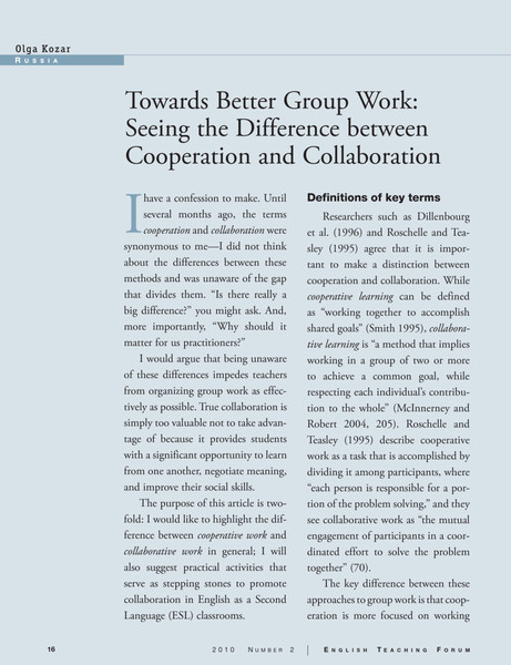 forum_article-_towards_better_groupwork-_seeing_the_difference_between_cooperation_and_collaboration.pdf