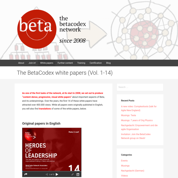 The BetaCodex white papers (Vol. 1-14) - BetaCodex Network