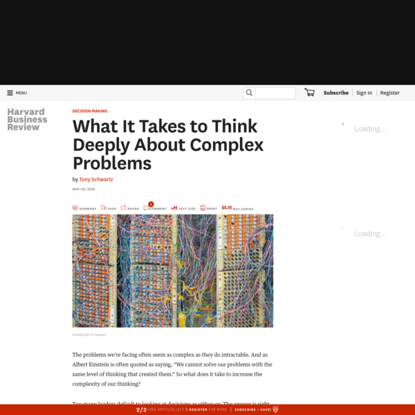 What It Takes to Think Deeply About Complex Problems