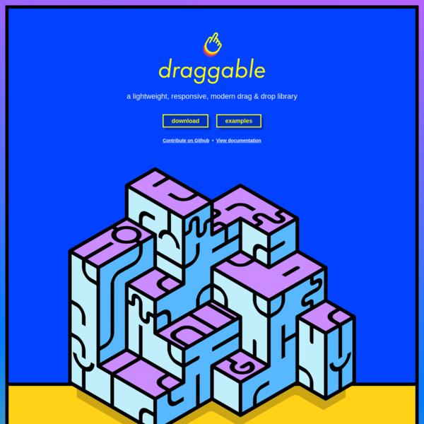 Draggable JS - JavaScript drag and drop library